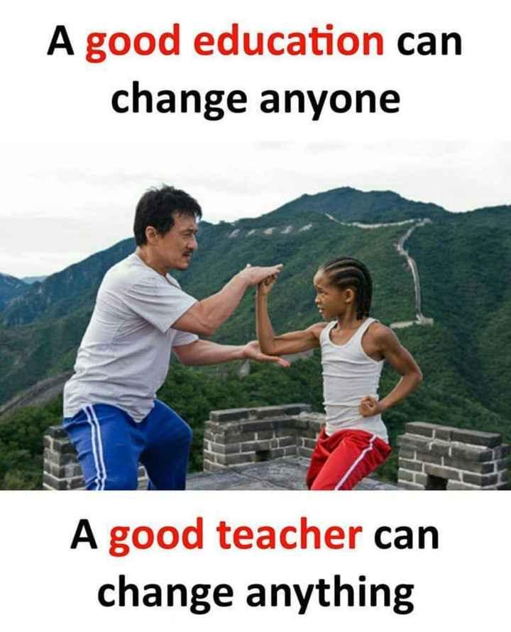 🤣ట్రాల్స్ & మీమ్స్ - A good education can change anyone A good teacher can change anything - ShareChat