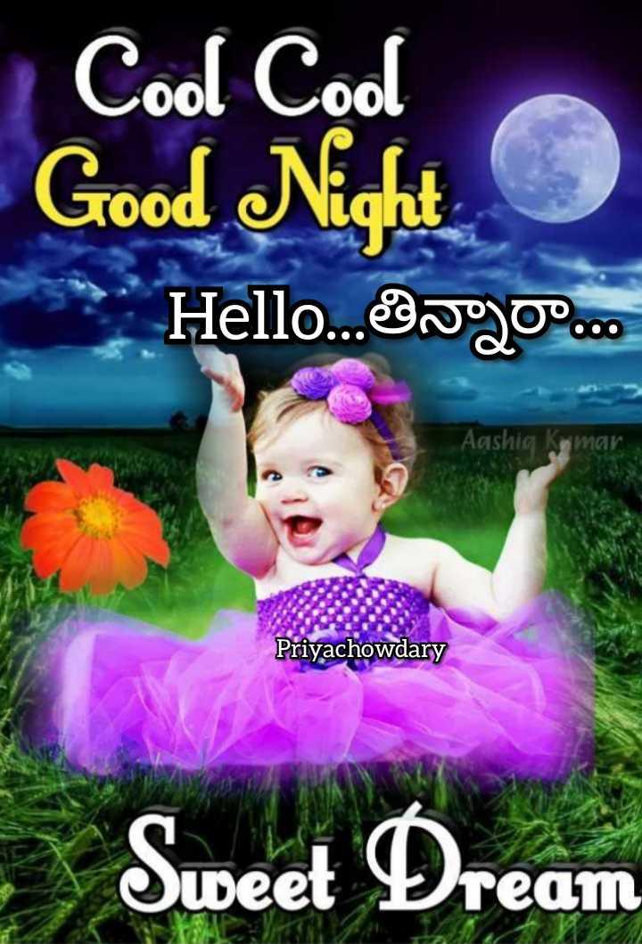 🍲తిన్నావా - Cool Cool Good Night Hello . . . go . . . Aashia ar Priyachowdary Sweet Dream - ShareChat