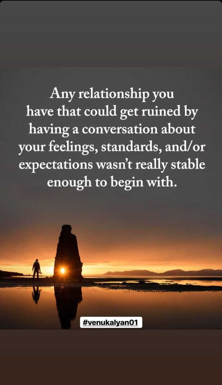 🎼తెలంగాణ బోనాల సాంగ్ - Any relationship you have that could get ruined by having a conversation about your feelings , standards , and / or expectations wasn ' t really stable enough to begin with . # venukalyan01 - ShareChat