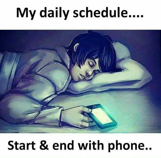 🤔💭నా ఆలోచనలు - My daily schedule . . . Start & end with phone . . - ShareChat