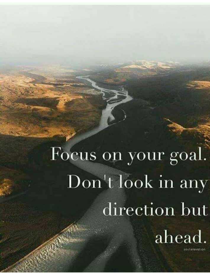 🤔💭నా ఆలోచనలు - Focus on your goal . Don ' t look in any direction but ahead . soul elevation - ShareChat