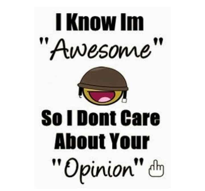 🤔💭నా ఆలోచనలు - I Know Im Awesome So I Dont Care About Your Opinion dhe - ShareChat