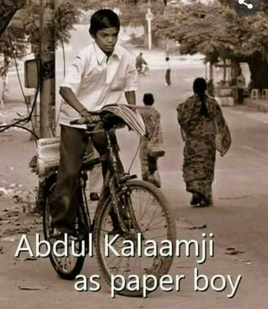 నాకు ఇష్టమైన నాయకుడు - 00 Abdul Kalaamji - as paper boy - ShareChat