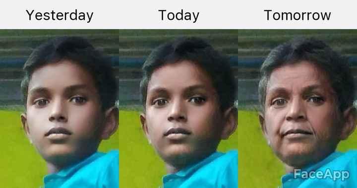 🦸 నా ఫేవరెట్ క్యారెక్టర్ - Yesterday Today Tomorrow FaceApp - ShareChat
