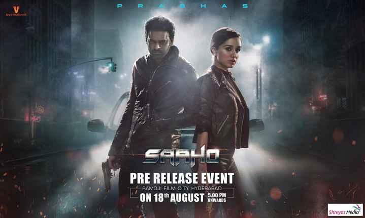 🖐🧡నా ఫేవరెట్ హీరో🕴🏼 - PR AB HAS UV creations SaaHO PRE RELEASE EVENT - RAMOJI FILM CITY , HYDERABAD - L ' ON 18th AUGUSTOWARDS ONWARDS Shreyas Media - ShareChat