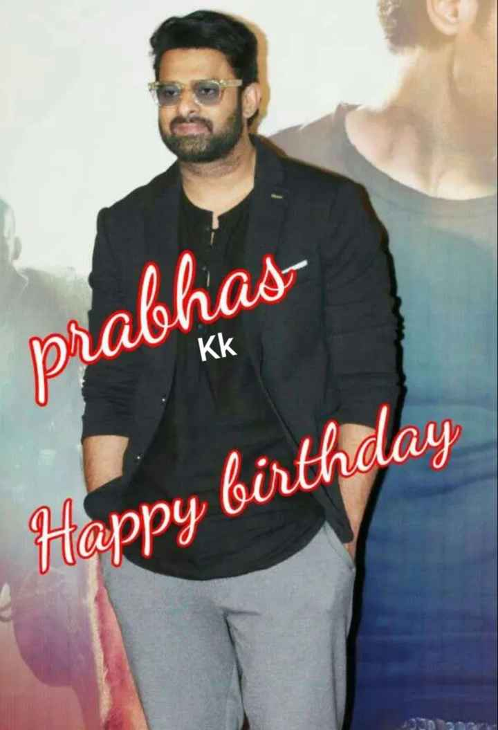 🖐🧡నా ఫేవరెట్ హీరో🕴🏼 - prabhas Kk Happy birthday - ShareChat