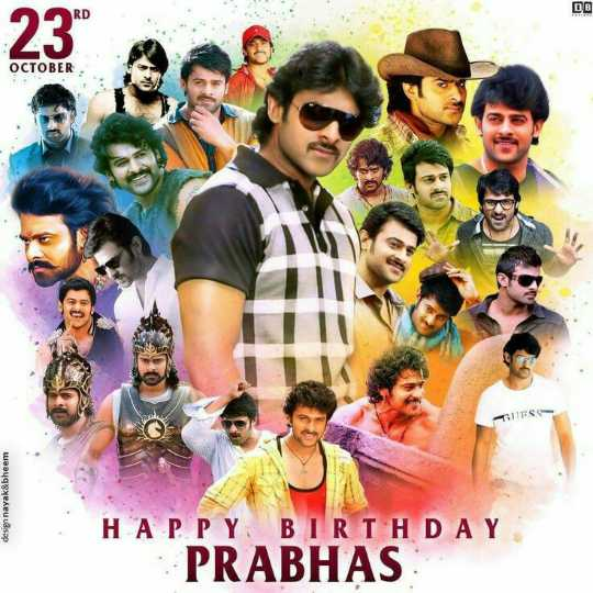 🖐🧡నా ఫేవరెట్ హీరో🕴🏼 - RD DE OCTOBER FSS design nayak & bheem HAPPY BIRTHDAY PRABHAS - ShareChat