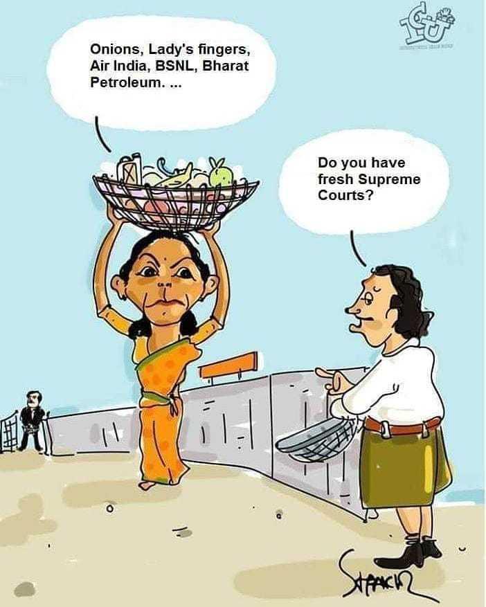 నేషనల్  పొలిటిక్స్ - Onions , Lady ' s fingers , Air India , BSNL , Bharat Petroleum . . . . Do you have fresh Supreme Courts ? - ShareChat