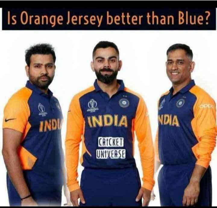 పాకిస్థాన్ vs అఫ్గానిస్థాన్🏏 - Is Orange Jersey better than Blue ? INDY INDIA NDIA CRICKET UNIVERSE - ShareChat