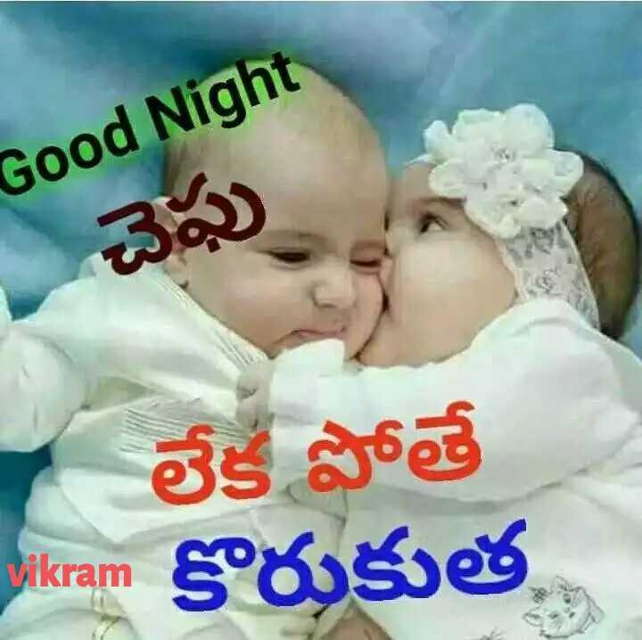 🤳పిల్లల సెల్ఫీస్👶🏻 - Good Night లేక పోతే Vikram ikram కొరుకుత - ShareChat