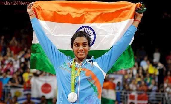 🎂పి.వి. సింధు పుట్టినరోజు 🎁🎉 - Indian24 News - ShareChat