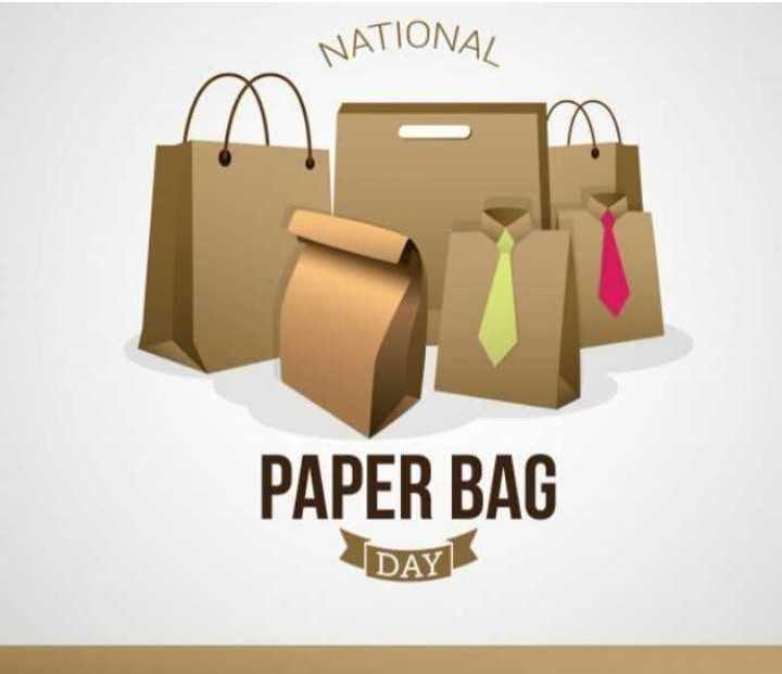 🛍పేపర్ బ్యాగ్ డే - NATIONAL PAPER BAG DAY - ShareChat