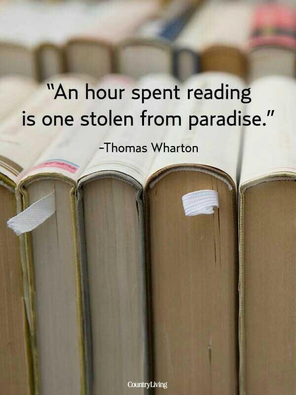📖 ప్రపంచ పుస్తక దినోత్సవం - An hour spent reading is one stolen from paradise . - Thomas Wharton Country Living - ShareChat