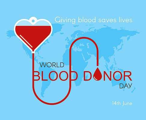 ప్రపంచ రక్త దాతల దినోత్సవం - Giving blood saves lives WORLD BLOOD DONOR DAY 14th June - ShareChat