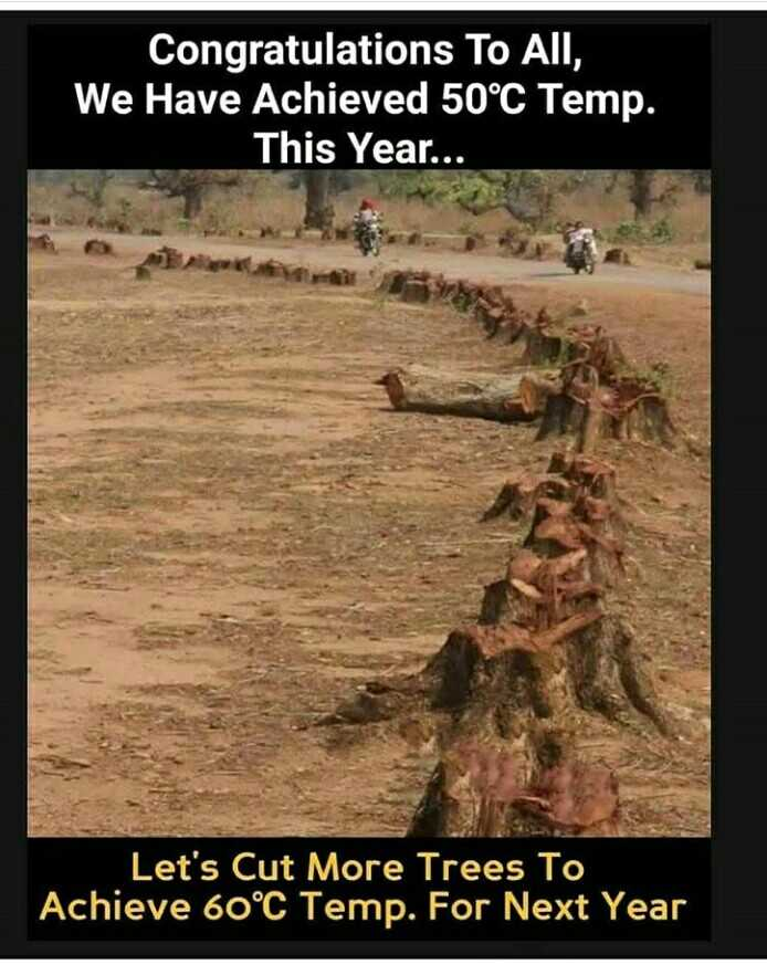ప్రపంచ రక్తదాన దినోత్సవం - Congratulations To All , We Have Achieved 50°C Temp . This Year . . . Let ' s Cut More Trees To Achieve 60°C Temp . For Next Year - ShareChat