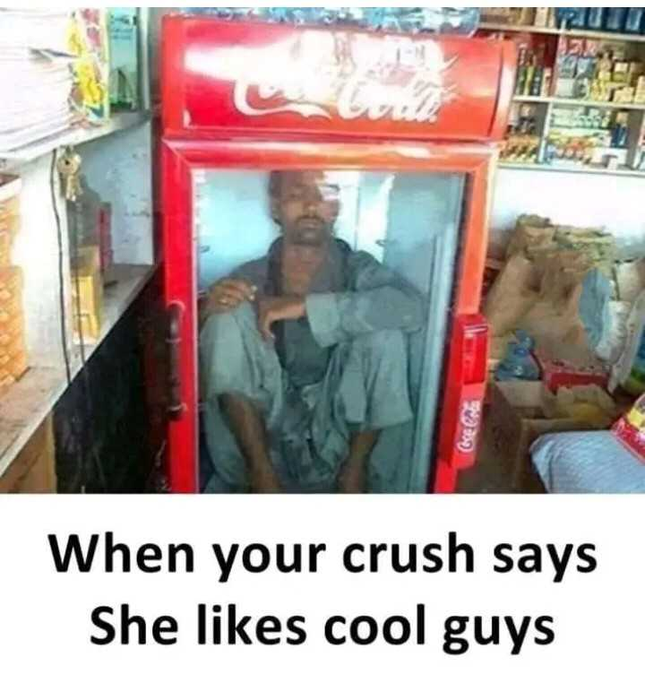 😆ఫన్నీ - ( een When your crush says She likes cool guys - ShareChat