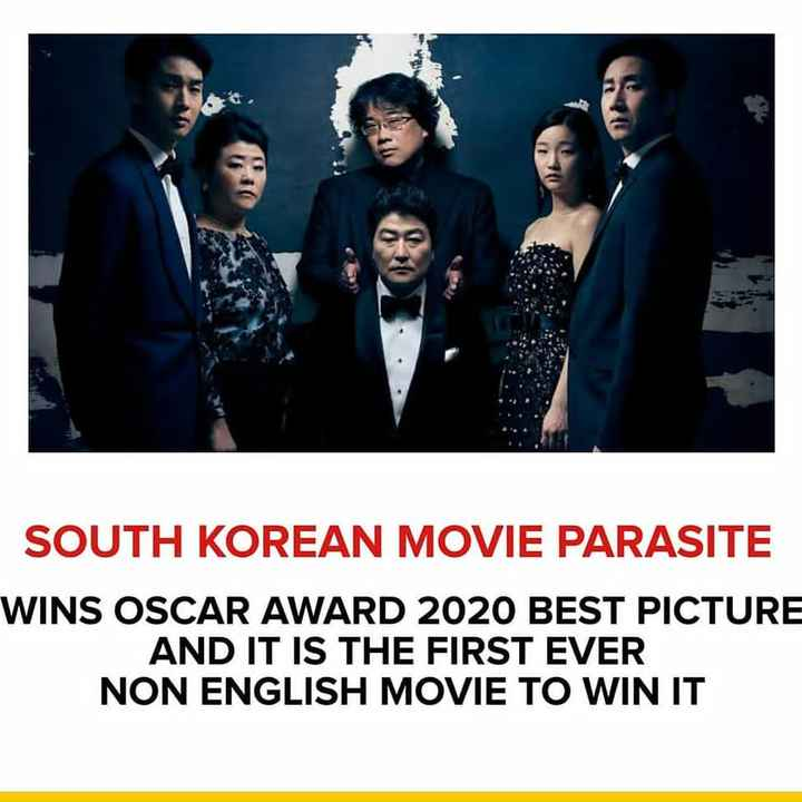బ్యాంక్ ఎగ్జామ్స్ - SOUTH KOREAN MOVIE PARASITE WINS OSCAR AWARD 2020 BEST PICTURE AND IT IS THE FIRST EVER NON ENGLISH MOVIE TO WIN IT - ShareChat