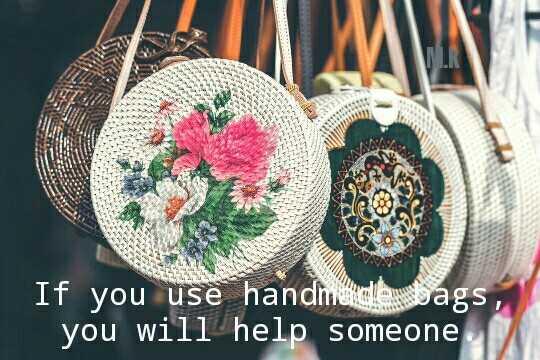 💼బ్యాగ్ డే - If you use handmade bags you will help someone - ShareChat