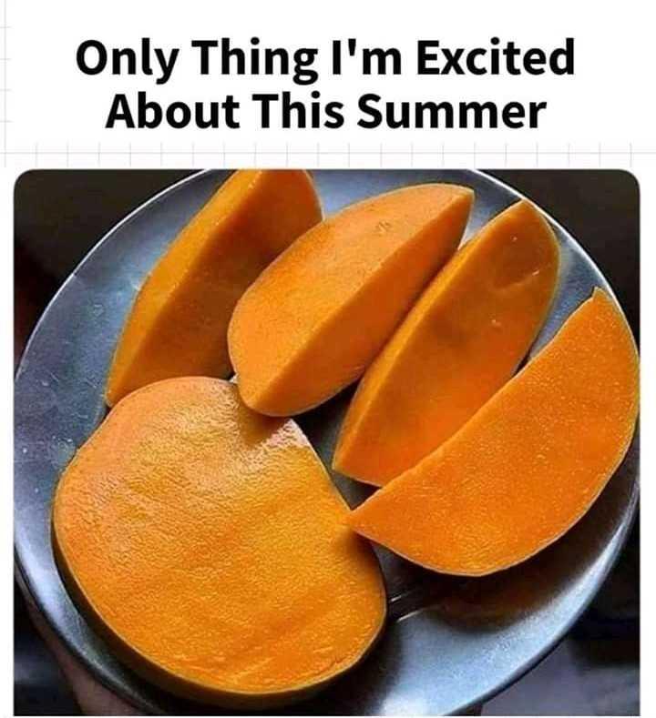 మామిడి పండ్ల స్పెషల్ - Only Thing I ' m Excited About This Summer - ShareChat