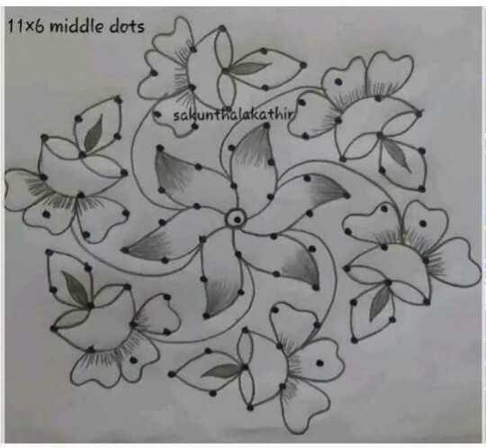 ముగ్గులు - Zee Hindustan - 11x6 middle dots sakunthalakathir - ShareChat
