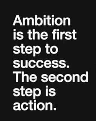 మొటివేషన్ స్పీచ్ - Ambition is the first step to success . The second step is action . - ShareChat