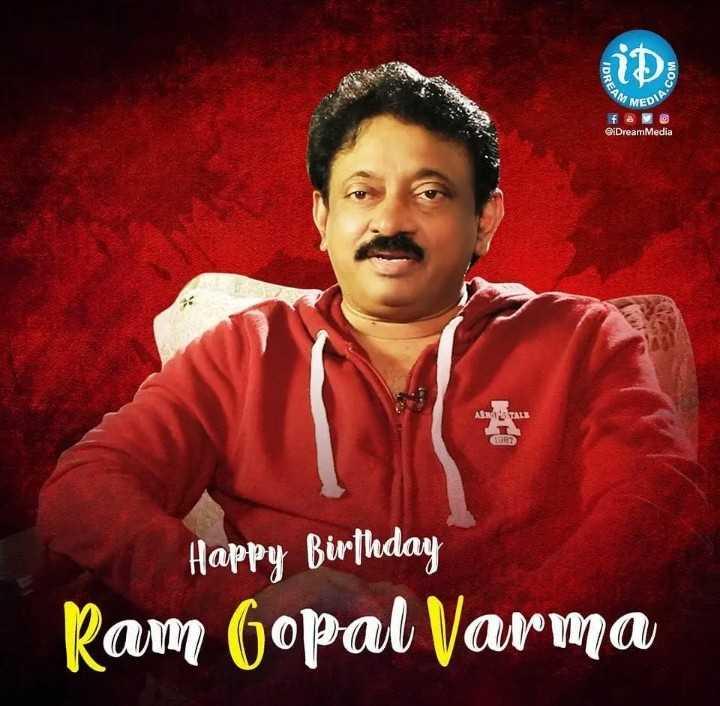 రాంగోపాల్ వర్మ పుట్టినరోజు - MED @ iDreamMedia ASROTALE Happy Birthday Ram Gopal Varma - ShareChat