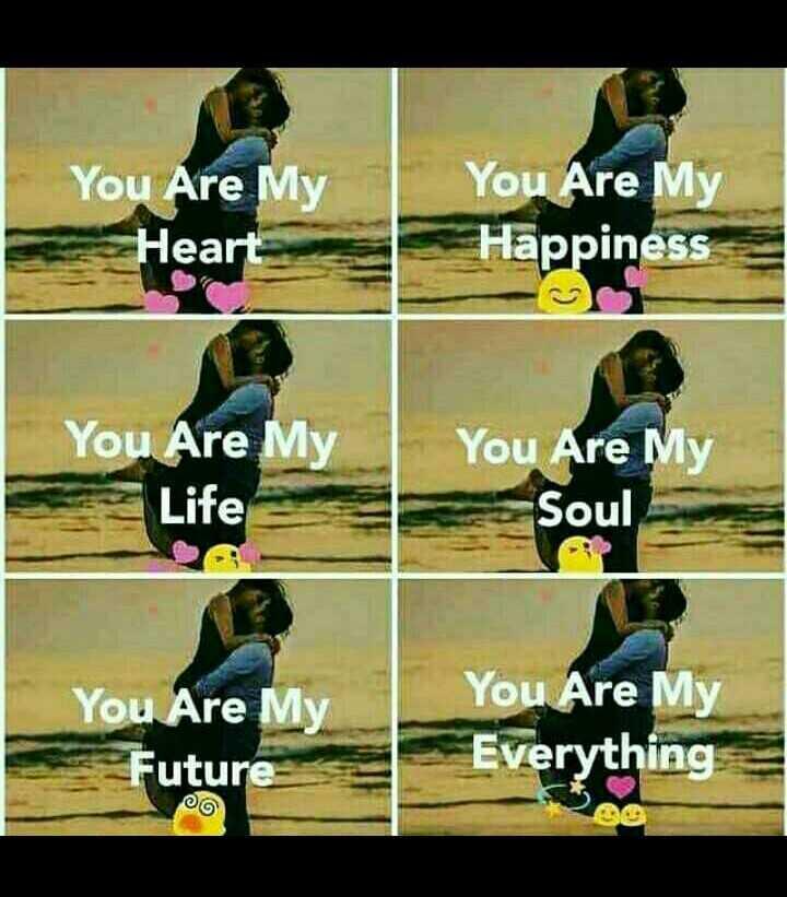 💓లవ్ Whatsapp స్టేటస్ - You Are My Heart You Are My Happiness You Are My Life You Are My Soul You Are My Future You Are My Everything - ShareChat