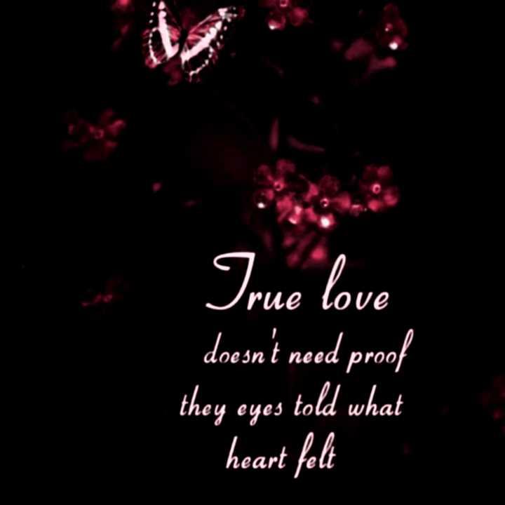 💓లవ్ Whatsapp స్టేటస్ - True love doesn ' t need proof they eyes told what heart felt - ShareChat