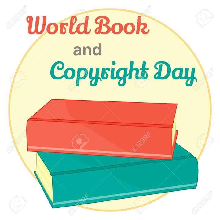 📒వరల్డ్ కాపీరైట్ డే - 9123RE @ 123RF OBRE and Copyright Day World Book 0123RF ©23RF 0123RF - ShareChat