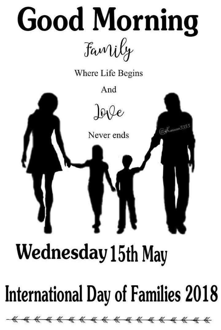 👋విషెస్ స్టేటస్ - Good Morning Family Where Life Begins And Love a : Kawan 5355 Never ends Wednesday 15th May International Day of Families 2018 《 《 《 《 《 《 《 《 《 《 《 《 《 《 《 《 《 《 - ShareChat