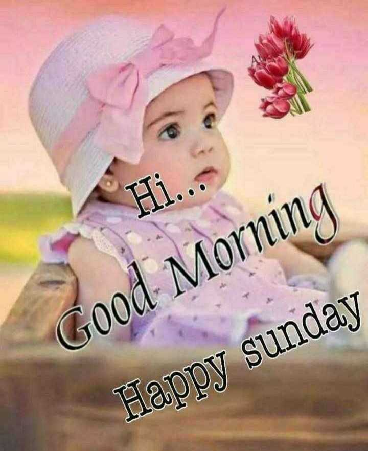 💐విషెస్ GIF - Hi . . . Good Morning Happy sunday - ShareChat