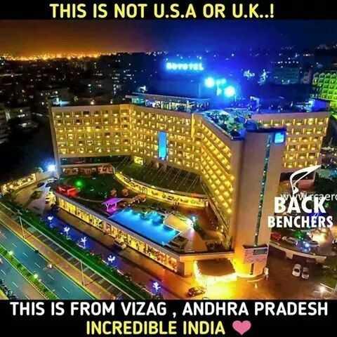 వైజాగ్ - THIS IS NOT U . S . A OR U . K . . ! BACRere BENCHERS THIS IS FROM VIZAG , ANDHRA PRADESH INCREDIBLE INDIA - ShareChat
