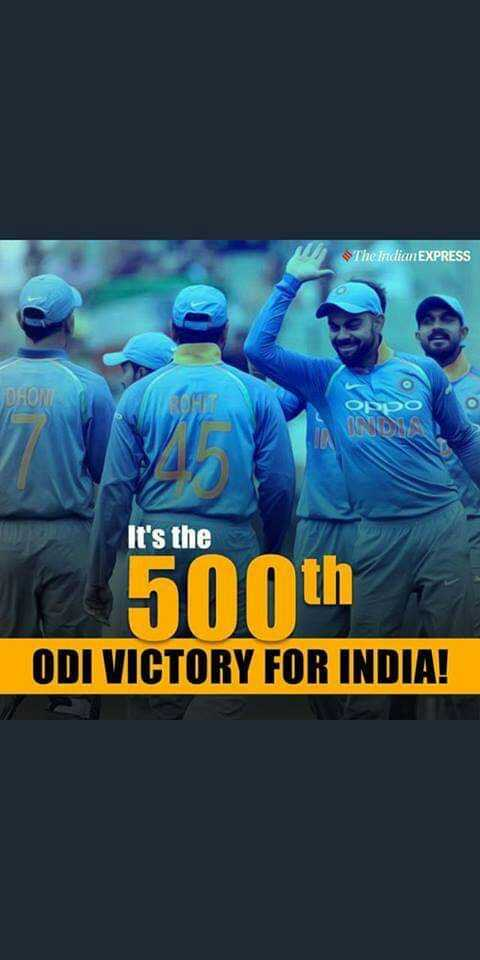 😴శుభరాత్రి - The Indian EXPRESS DHON IND It ' s the 500th ODI VICTORY FOR INDIA ! - ShareChat