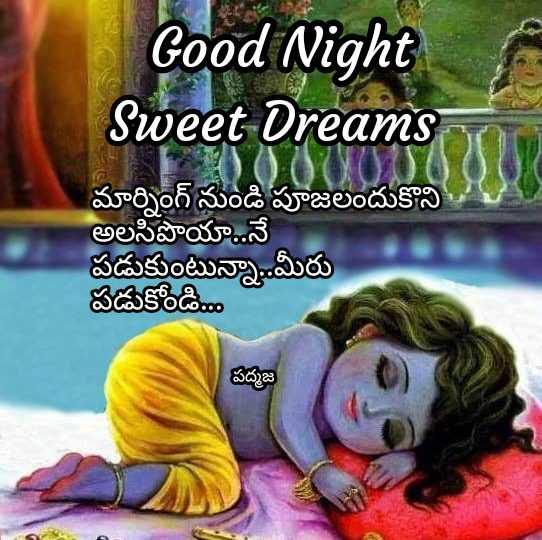 😴శుభరాత్రి - Good Night Sweet Dreams మార్నింగ్ నుండి పూజలందుకొని అలసిపొయానే పడుకుంటున్నా . . మీరు పడుకోండి , పద్మజ - ShareChat