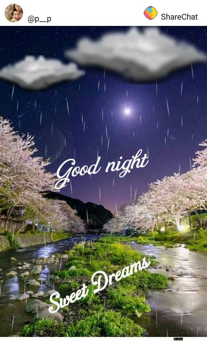 😴శుభరాత్రి - @ p _ _ p ShareChat Good night Dreams - ShareChat