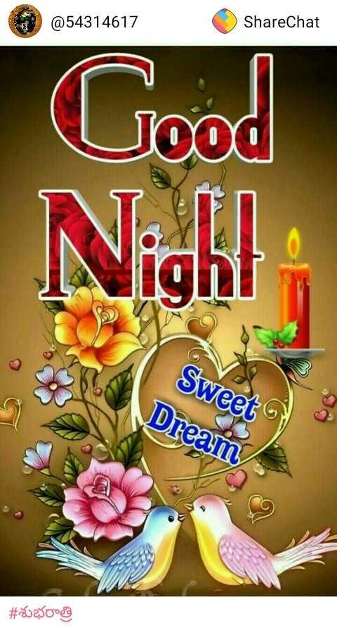 😴శుభరాత్రి - @ 54314617 ShareChat Good Night Sweet Dream # 2002 - ShareChat
