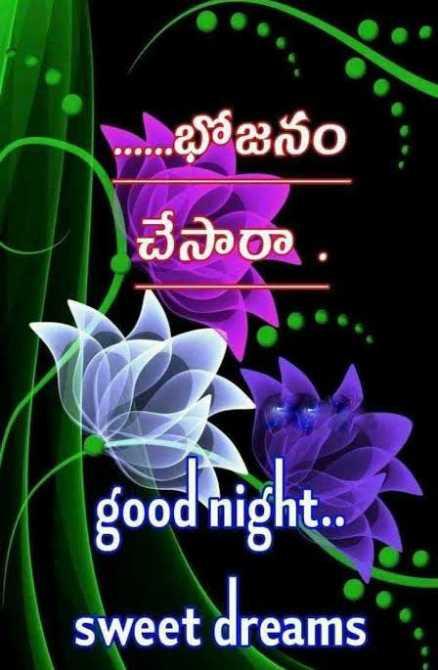 😴శుభరాత్రి - . . . . . . భోజనం చేసారా good night . . sweet dreams - ShareChat