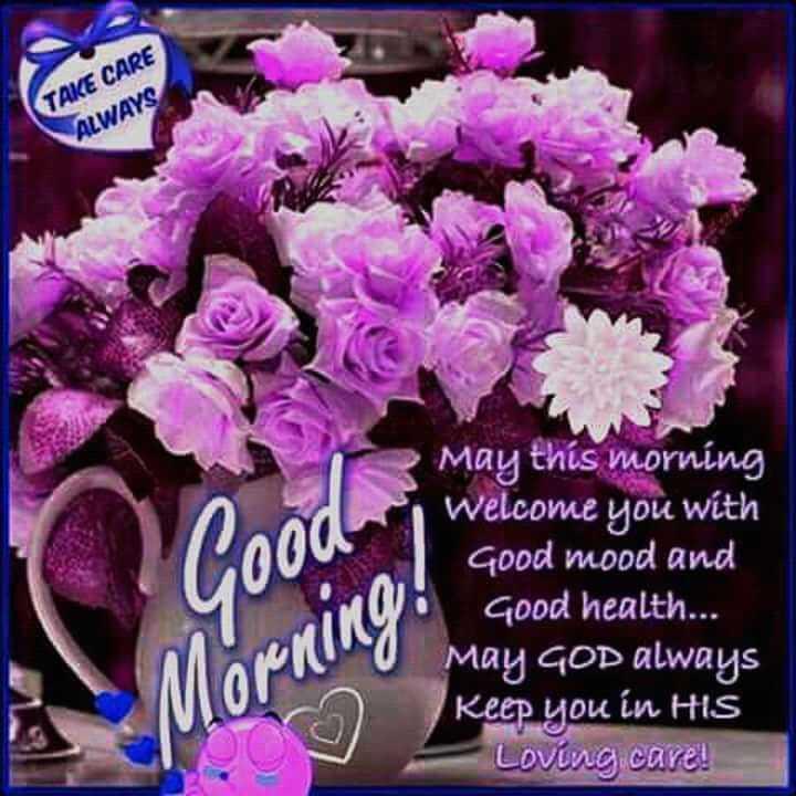 🙏శుభాకాంక్షలు - TAKE CARE ALWAYS Good May this morning Welcome you with Good mood and Good health . . . May GOD always Keep you in HIS Loving care ! Morning ! - ShareChat