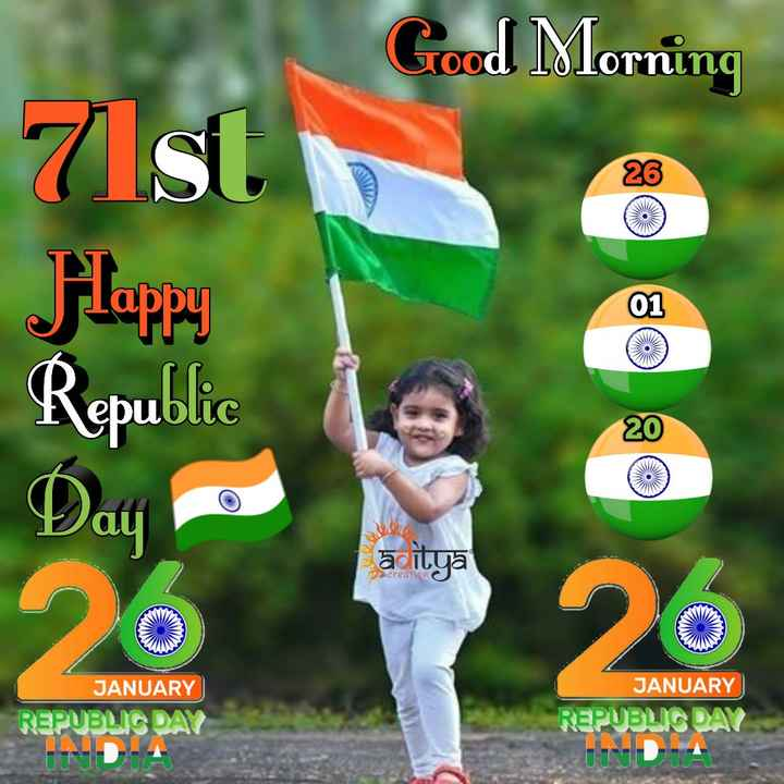 🙏శుభాకాంక్షలు - Good Morning 7 Ist Hluppy Republic Day āditya улсrеаtiои с JAAN JANUARY JANUARY REPUBLIC DAY UUD REPUBLIC DAY UINDIA - ShareChat