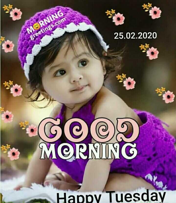 శుభొదయమ్ - MORNING : 25 . 02 . 2020 greetings . com GOOD MORNING Happy Tuesday - ShareChat