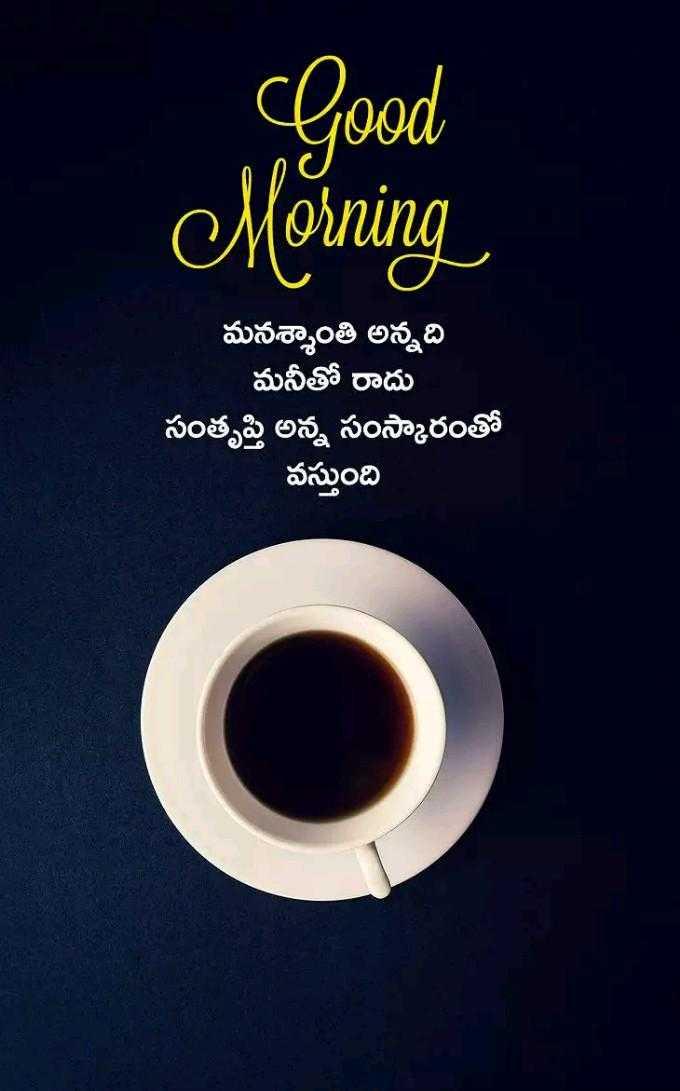 🌅శుభోదయం - Good Morning మనశ్శాంతి అన్నది మనీతో రాదు సంతృప్తి అన్న సంస్కారంతో వస్తుంది - ShareChat