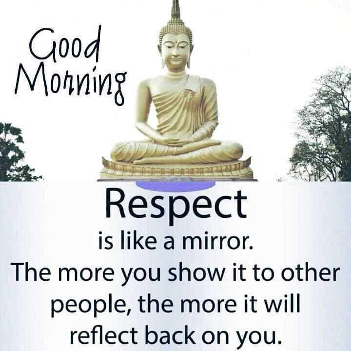 🌅శుభోదయం - . Good Morning Respect is like a mirror . The more you show it to other people , the more it will reflect back on you . - ShareChat