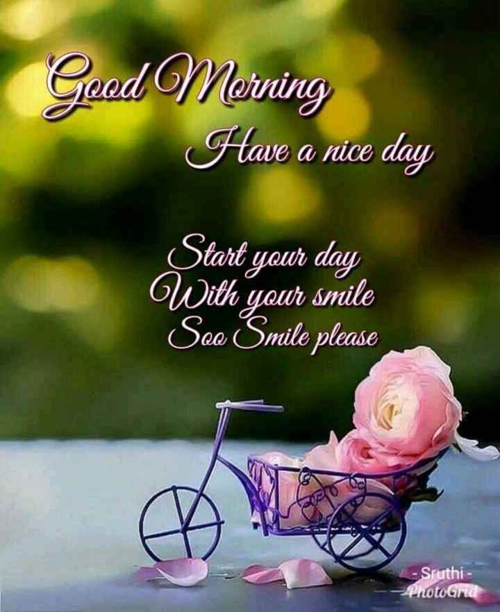 🌅శుభోదయం - Good Morning Have a nice day Start your day With your smile See Smile please - Sruthi - PhotoGrd - ShareChat