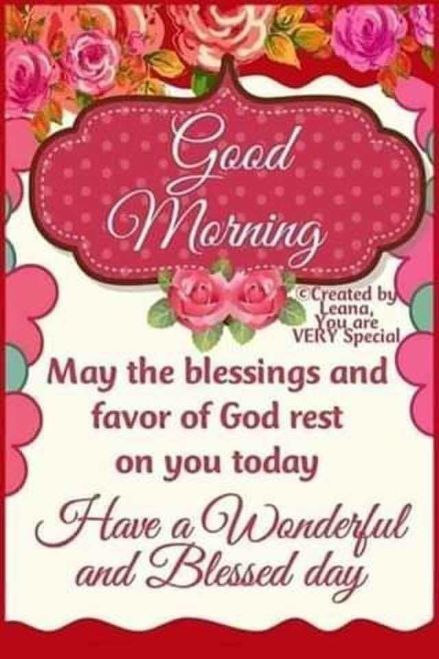 🌅శుభోదయం - Good Morning Created by Leana , You are VERY Special May the blessings and favor of God rest on you today Have a Wonderful and Blessed day - ShareChat