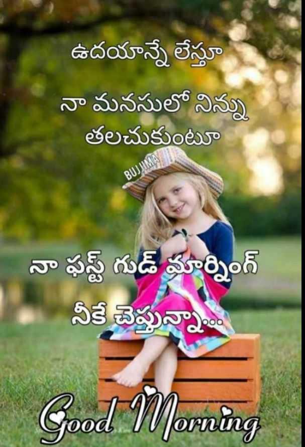 🌅శుభోదయం - ఉదయాన్నే లేస్తూ నా మనసులో నిన్ను తలచుకుంటూ BUJIM నా ఫస్ట్ గుడ్ మార్నింగ్ నీకే చెప్తున్నా . . . Good Morning - ShareChat