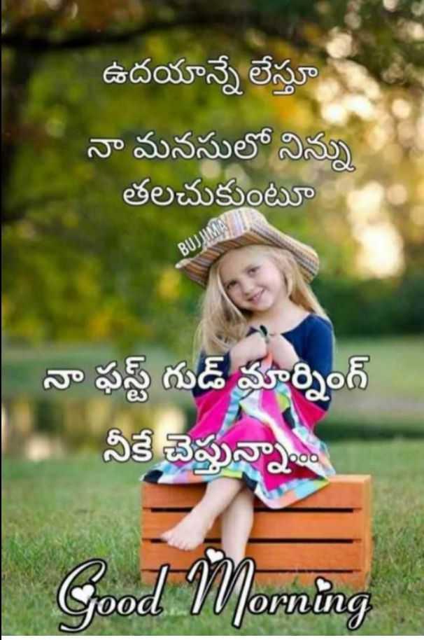 🌅శుభోదయం - ఉదయాన్నే లేస్తూ నా మనసులో నిన్ను తలచుకుంటూ BUJ నా ఫస్ట్ గుడ్ మార్నింగ్ నీకే చెప్తున్నా . . . Good Morning - ShareChat