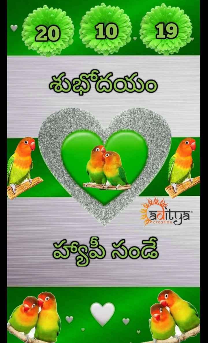 🌅శుభోదయం - శుభోదయం laditya creation హ్యాపీ సండే - ShareChat