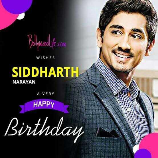 🎂సిద్ధార్థ పుట్టినరోజు🎉🎈 - Bollywoodipe . com WISHES SIDDHARTH NARAYAN A VERY HAPPY Birthday - ShareChat