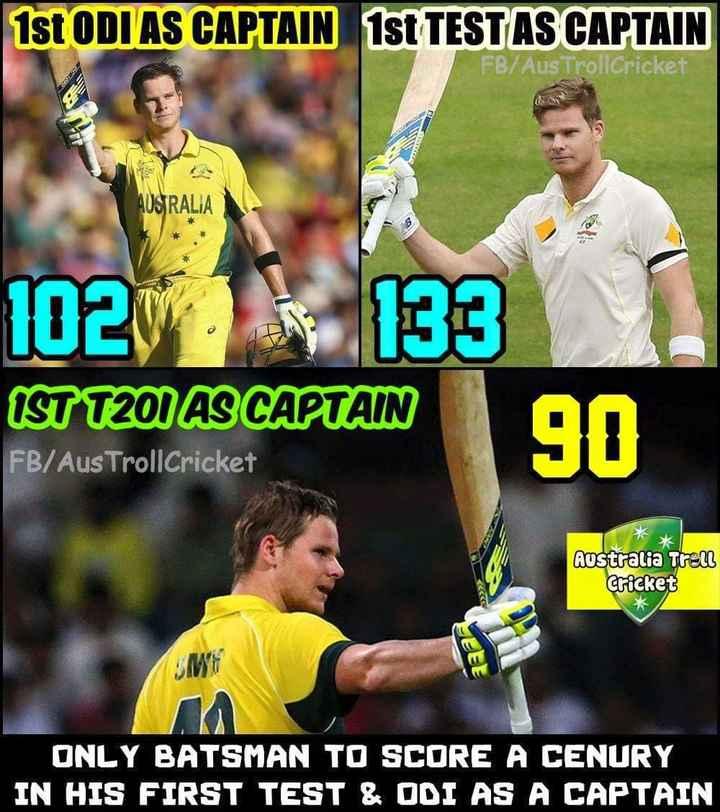 స్టీవెన్ స్మిత్ పుట్టినరోజు - 1st ODI AS CAPTAIN 1st TESTAS CAPTAIN FB / Aus TrollCricket AUSTRALIA 1023 133 IST T201 AS CAPTAIN FB / Aus TrollCricket 90 Australia Trell Cricket JEEE ME ONLY BATSMAN TO SCORE A CENURY IN HIS FIRST TEST & ODI AS A CAPTAIN - ShareChat