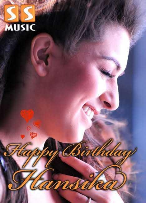 🎂 హన్సిక పుట్టిన రోజు 🎂🍫 - ESS MUSIC Happy Birthday Suansika - ShareChat
